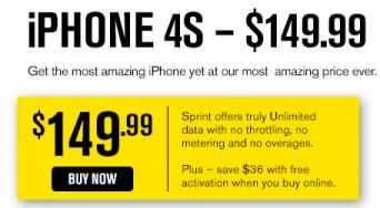 Sprint iPhone 4S