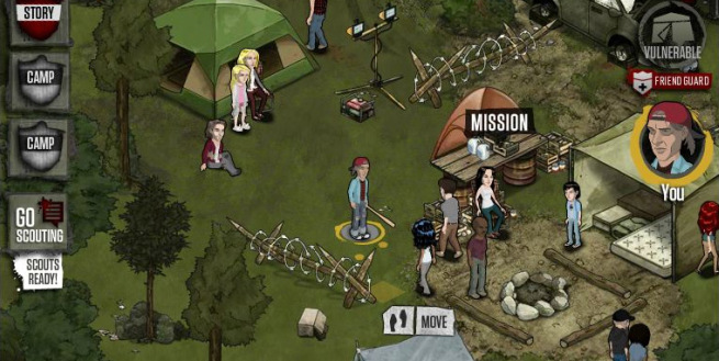 the walking dead shambles over to facebook in new social game