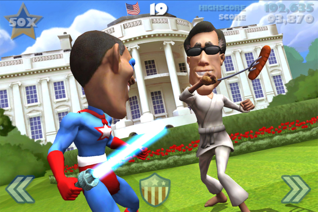 Mitt Romney and President Barack Obama in VOTE!!! The Game