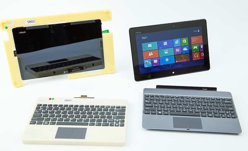 Windows RT prototype and actual Asus PC