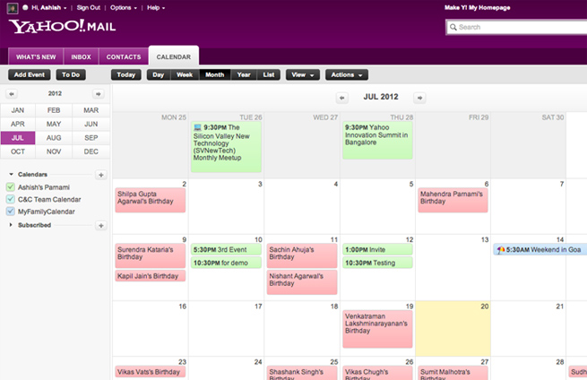 Yahoo-Calendar-Tab