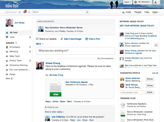 Microsoft Isn T Slowing Yammer Down Major Update Adds
