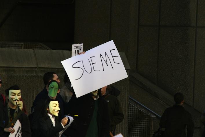 Anonymous sue me