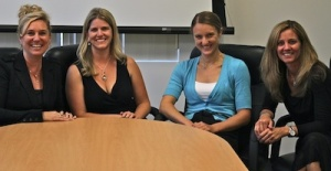 From left to right: Box executives Whitney Tidmarsh Bouck, general manager of enterprise; Jen Grant, VP of marketing; Kimber Lockhart, director of engineering; and Karen Appleton, VP business development, in September, 2012.