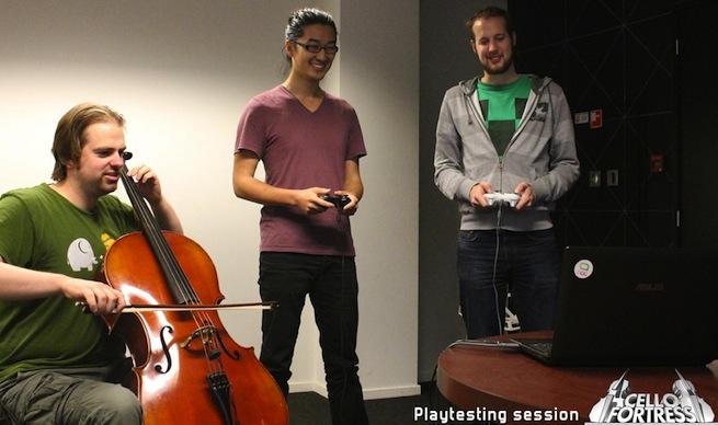Cello Fortress playtesting photo
