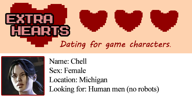 Chell's dating profile