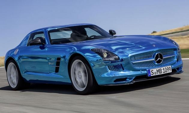Mercedes benz boosts electric car performance with flashy for Mercedes benz sls amg electric drive price