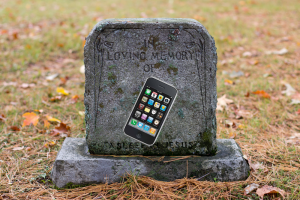 Not exactly the state of the art anymore -- Apple's iPhone 3GS.