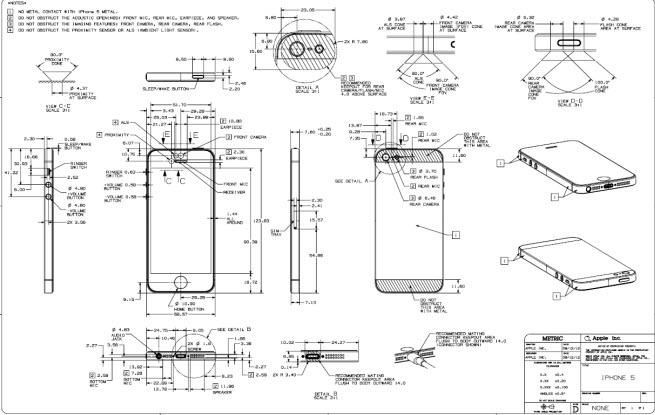The Iphone 5 39 S Blueprints Show The Intricacy Of Apple 39 S