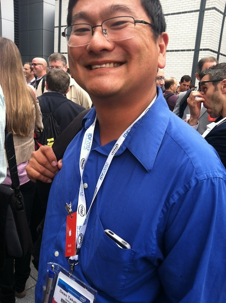 Dean Takahashi at the Apple iPhone 5 event