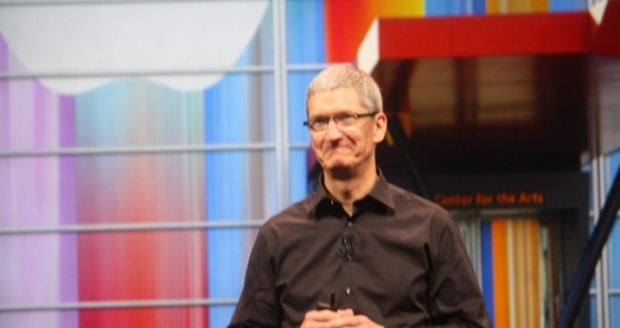 Apple CEO Tim Cook at the iPhone 5 event