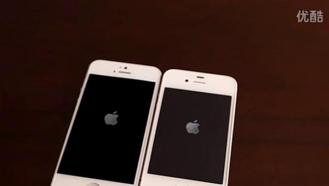 Leaked iPhone 5 booting up