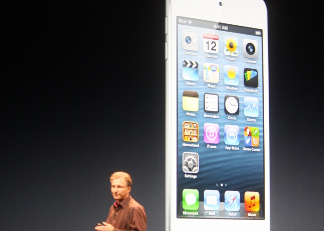 Apple's new iPod Touch, announced September 12, 2012