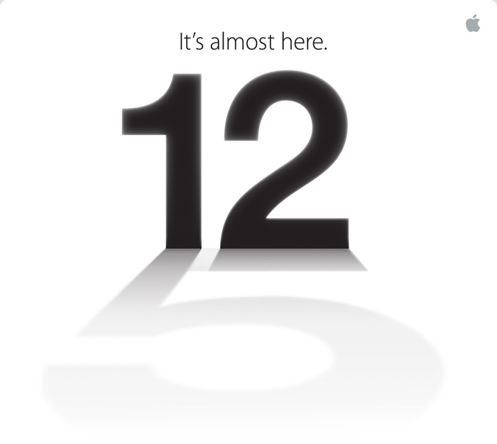 Apple iPhone 5 launch invitation
