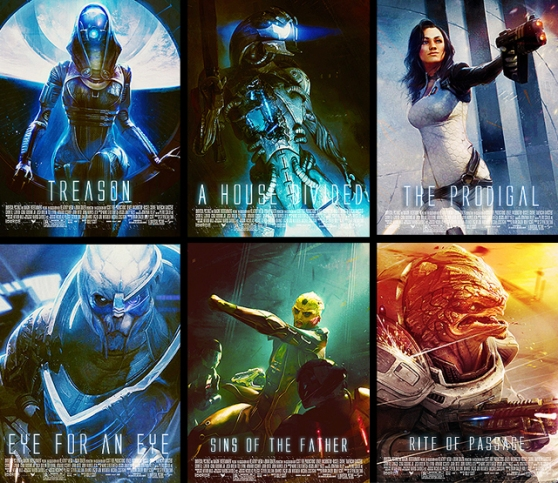 Mass Effect 2 character posters