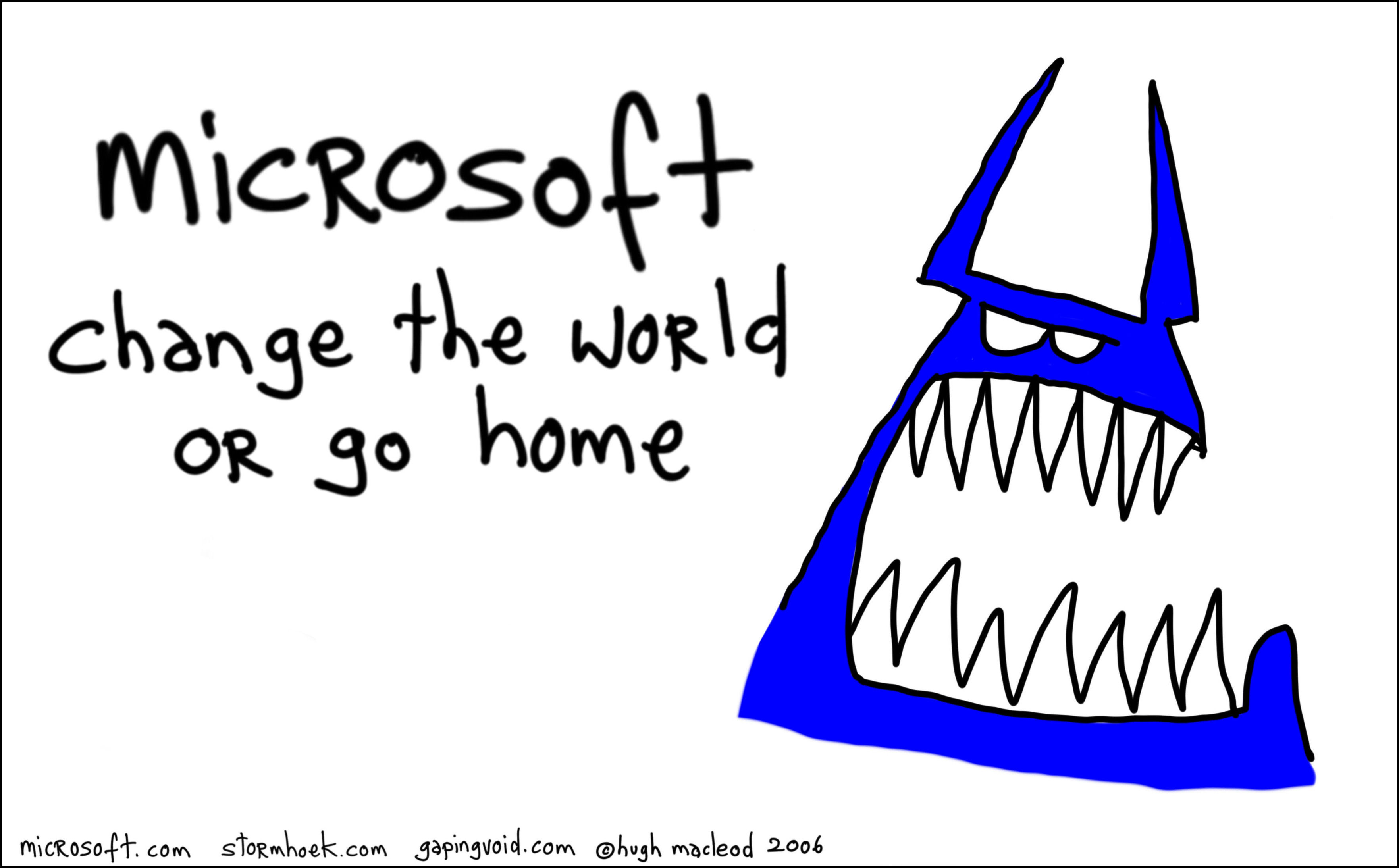 Part of the blue monster series for Microsoft helping the company redefine its image of itself