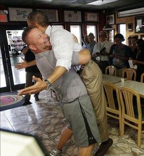 Obama hug spurs yelp reviews
