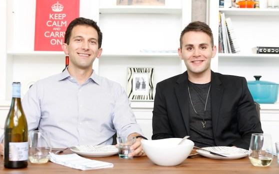 Pop-Up Pantry founders Tom Balamaci (left) and David Hauslaib