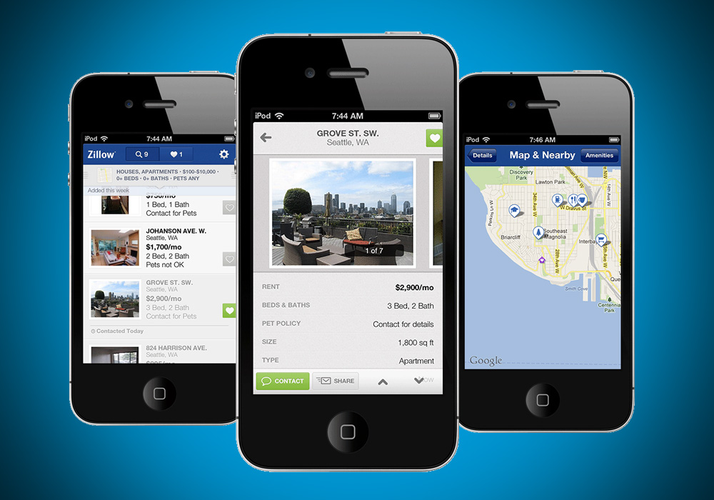 Zillow continues its mobile push with iPhone Rentals app ...