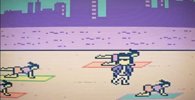 Gangnam Style in 8-bit graphics