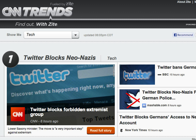 'CNN Trends' shows why Zite was a good purchase for CNN ...