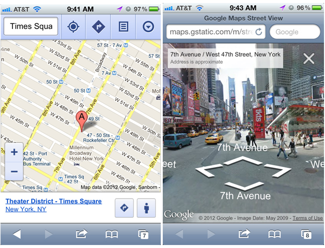 Google adds Street View to Maps web app on iOS | VentureBeat on google seo, google web tools, google tips, google powerpoint, google web designer, google web pages, google web analytics, google media, google enterprise, google web browser, google excel, google sites website, gmail apps, google portfolio, google applications, windows mobile apps, google events, google iphone, google gaming,