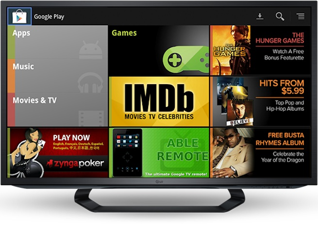 Google TV Store Screen
