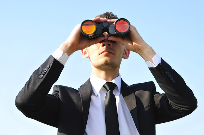 Man searching