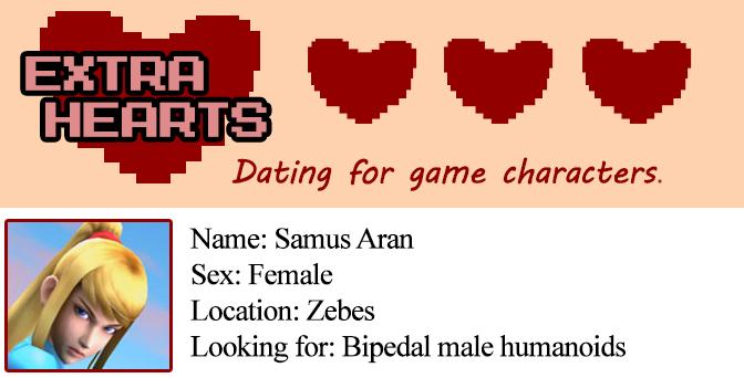 Extra Hearts: Samus Aran's profile