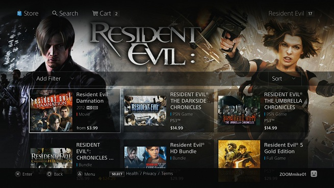 Sony refreshes interface for its entertainment network