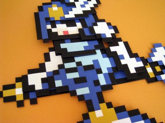Mega Man Cutout -- Running by TheToaster