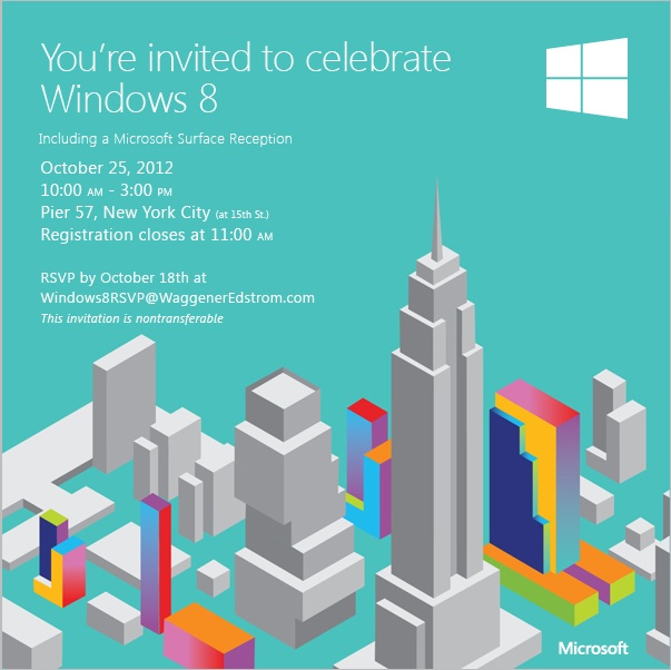 Microsoft Starts Sending Invites To Windows 8 & Windows