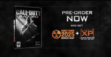 COD: Black Ops II bonus map advertisement