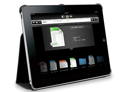 CloudOn showing Office documents on an iPad