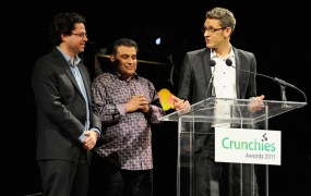 Crunchies 2011 hosts Erick Schonfeld, Om Malik, and Matt Marshall
