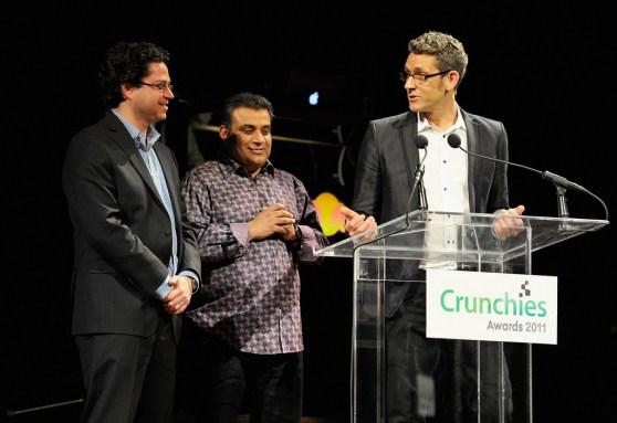 Crunchies 2011 hosts Erick Schonfeld, Om Malik, and Matt Marshall