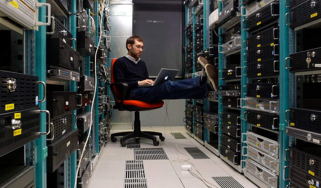 Guy in a data center