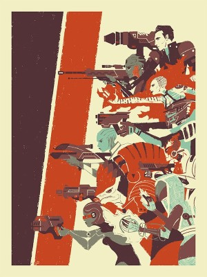 """EA Store Mass Effect 3 """"No One Left Behind"""" screenprint poster"""