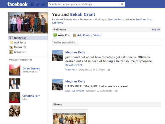 Facebook friendship old