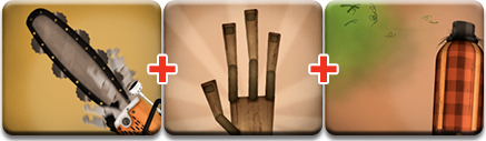 Drill Chain Thrower (6) + Lumberjack Hand (6) + Manly Odor Spray (6) & Little Inferno: How to unlock all 99 combos - view all | GamesBeat