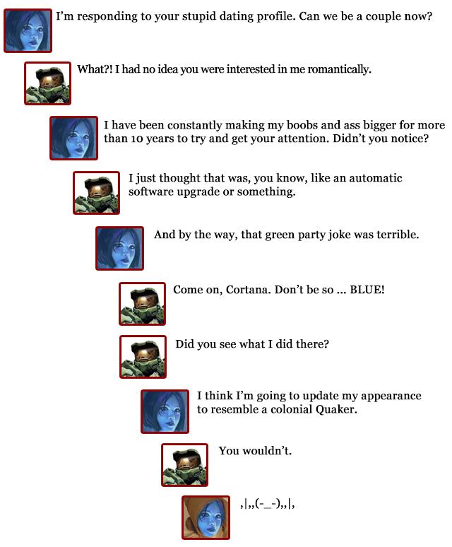 Extra Hearts: Master Chief comments -- Cortana