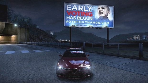 Obama in-game ad