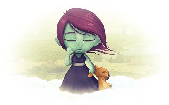 Sad Glitch girl
