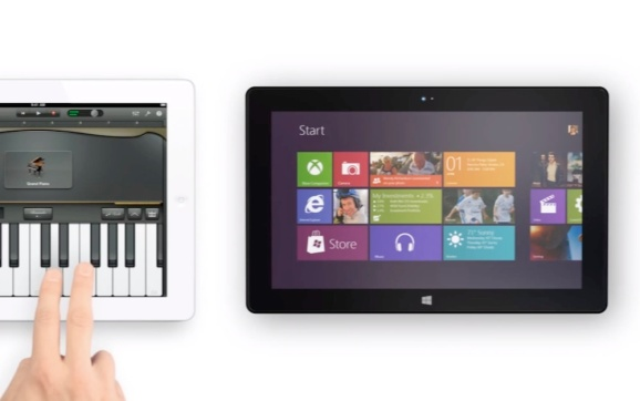Screenshot of surface commercial