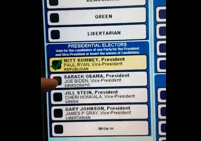 Voter machine glitch