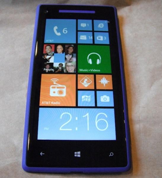 HTC Windows Phone 8X, running Windows Phone 8