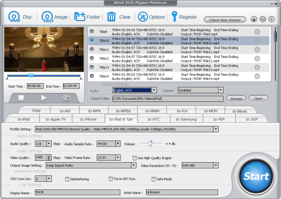WinX DVD Ripper Platinum, from Digiarty software
