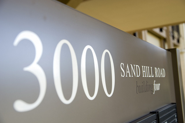 Sign at 3000 Sand Hill Road