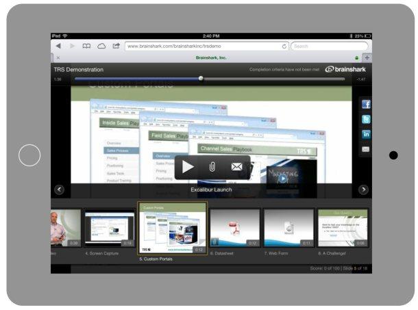 Brainshark Mobile Player (tablet view)