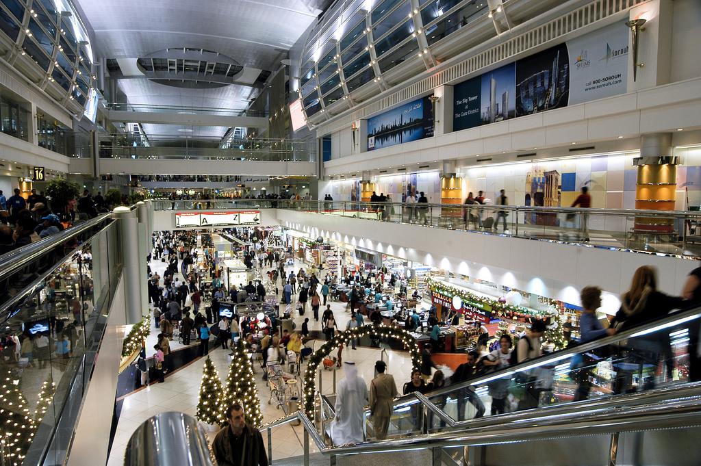 christmas airport